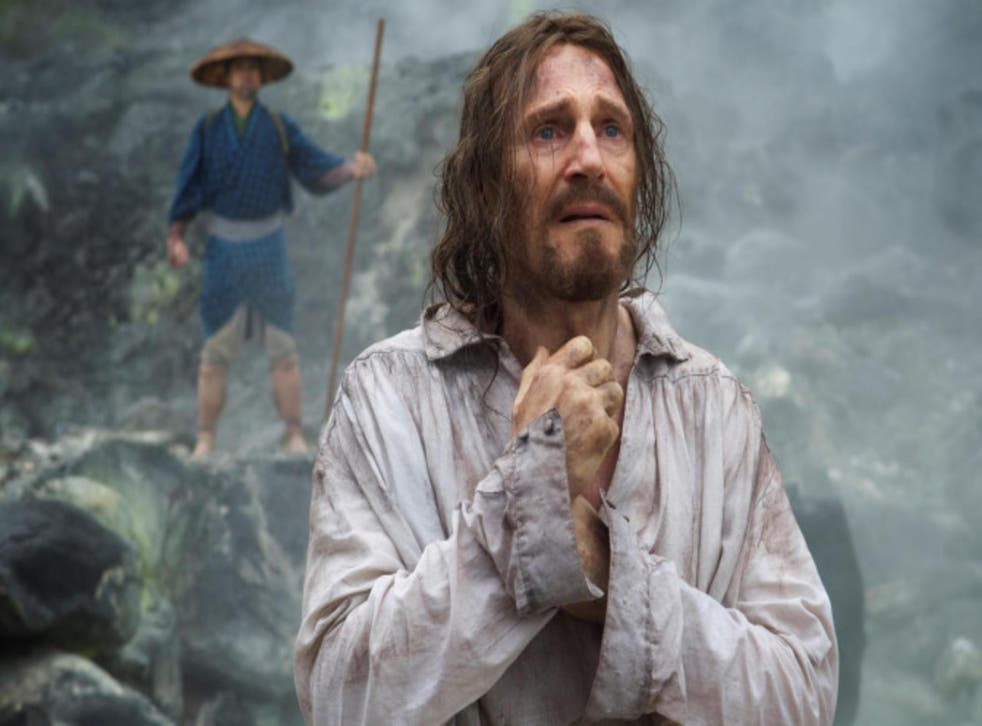 Liam Neeson in 'Silence',a film that was a passion project for director Scorsese