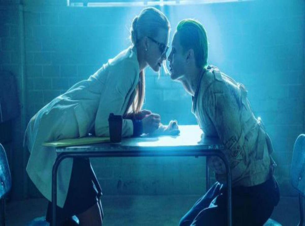 Margot Robbie and Jared Leto as Harley Quinn and The Joker in Suicide Squad