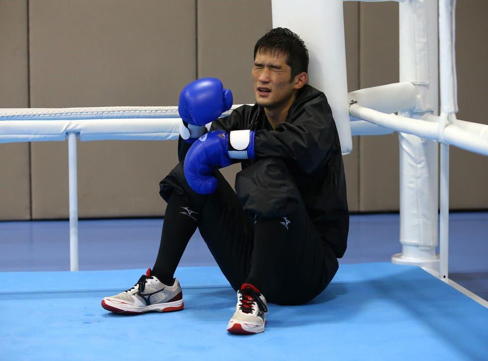Arashi Morisaka (JPN) of Japan attends training
