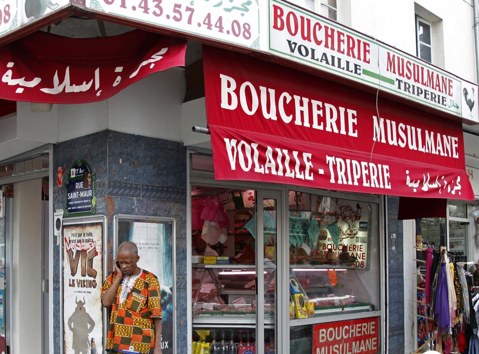 A halal butcher shop in Paris. The initiative will help tap in to the global halal market