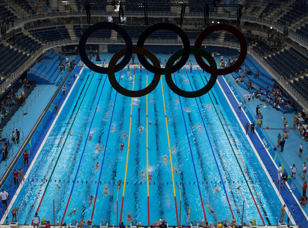 The Olympic swimming pool will be staffed by lifeguards throughout the Games