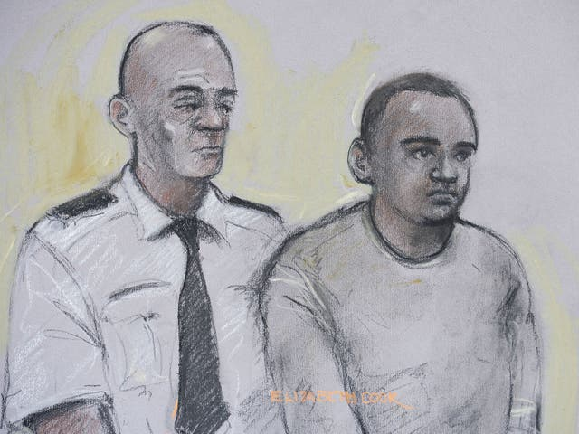 The 19-year-old Bulhan appearing at Westminster Magistrates Court yesterday