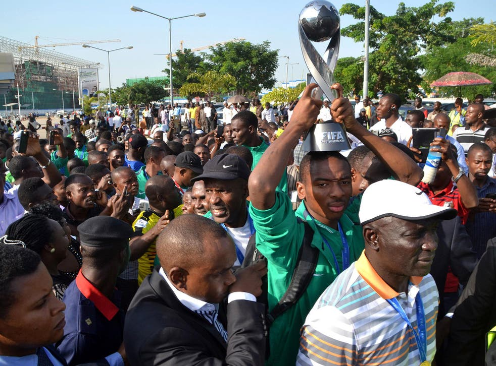 The Golden Eaglets return to Abuja after winning the 2015 Under-17 World Cup