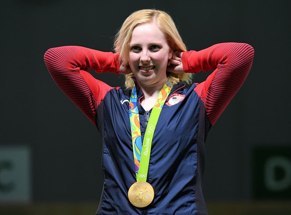 Virginia Thrasher won the first gold medal at the 2016 Olympics in the 10m air rifle shooting