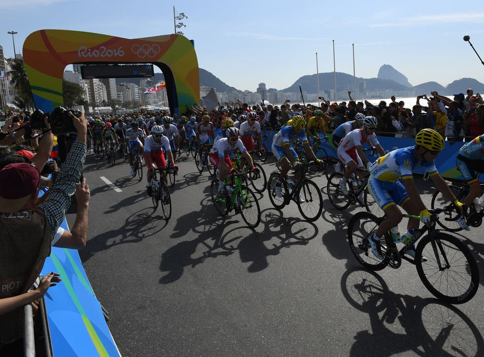 A controlled explosion by Brazil's anti-bomb squad took place near the finish line