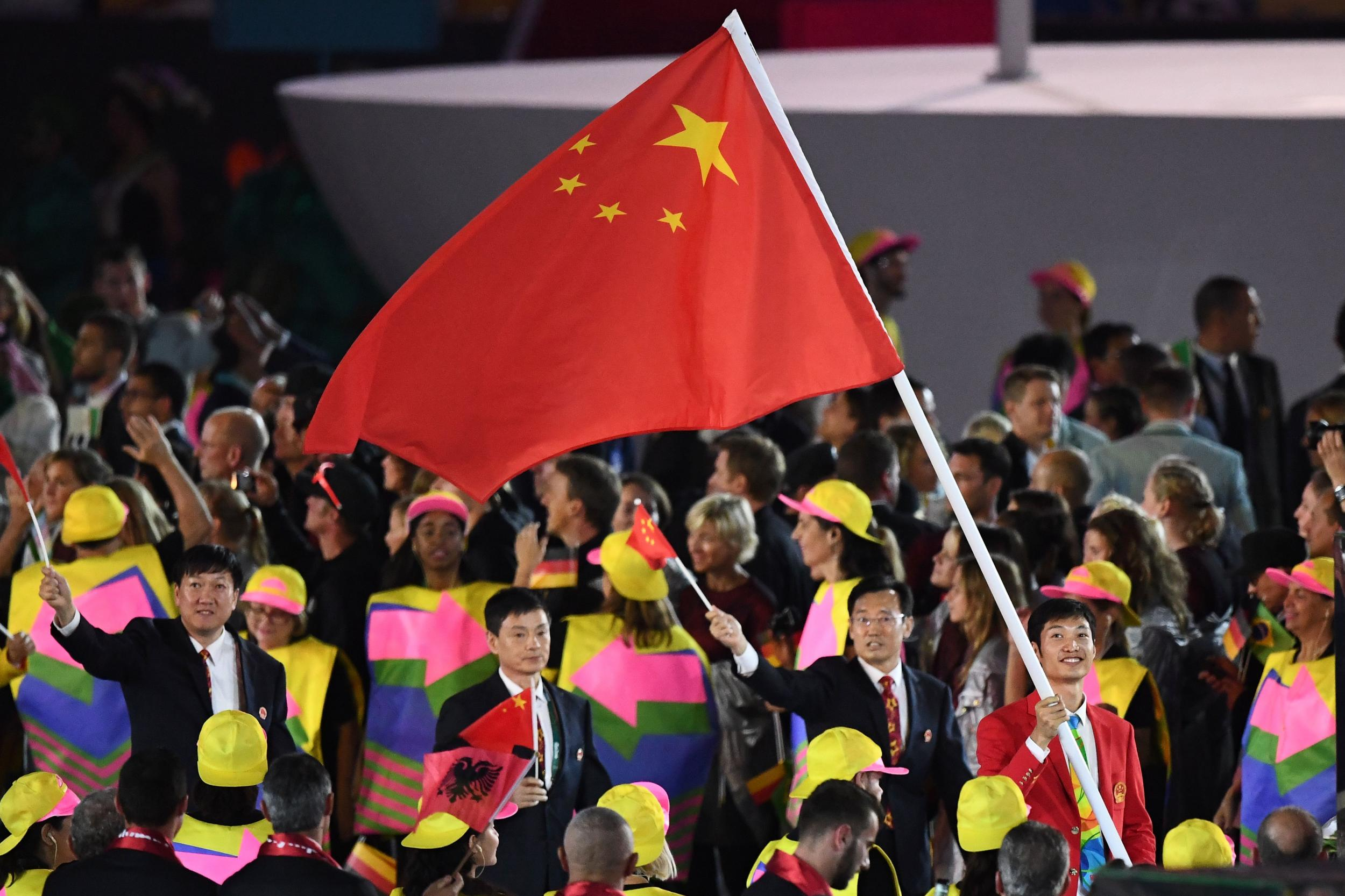 rio 2016 wrong chinese flag used in medal ceremonies the