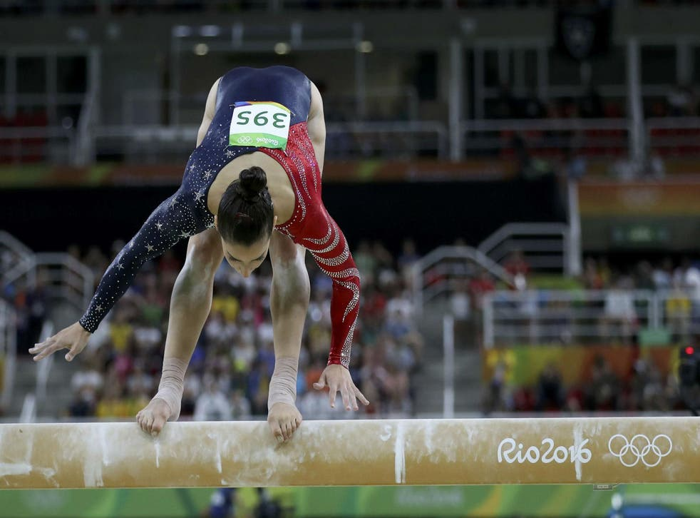 Raisman probably gave her parents palpitations when she almost lost her balance on the beam, but the two-time gold medallist made it through to the all-around gymnastics final regardless