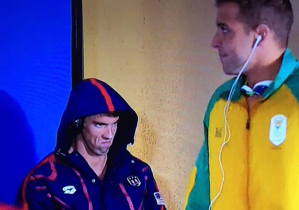 Rio 2016 Michael Phelps Game Face Takes Twitter By Storm