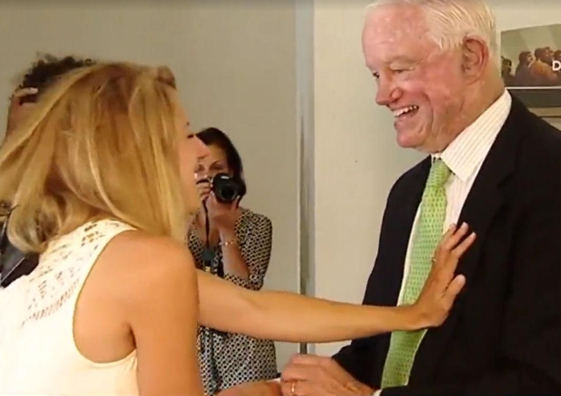 Bride given away by man who received her father's donated heart
