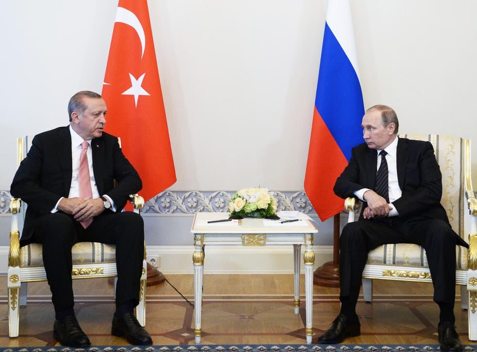 President Erdogan meets with Russian President Vladimir Putin