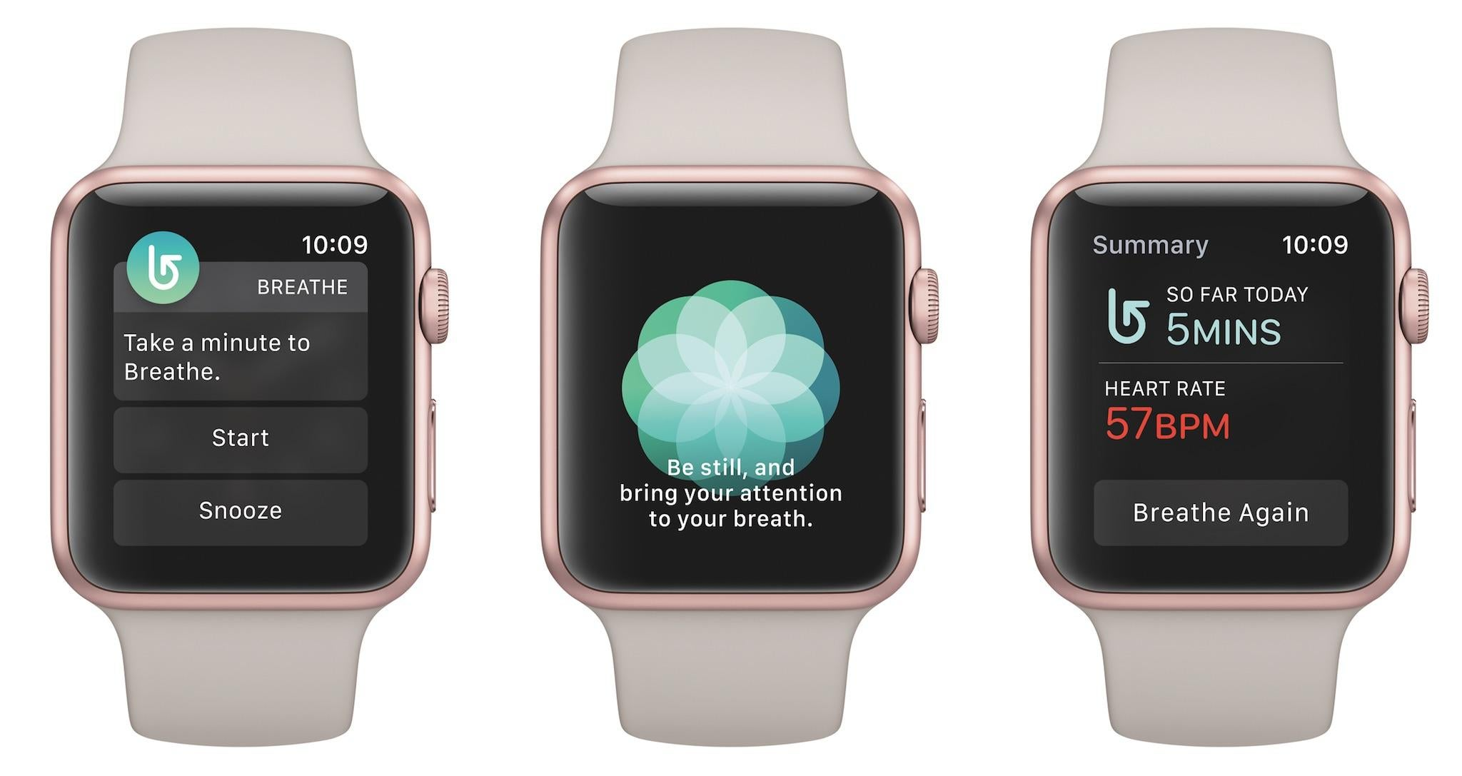 Apple Watch app 'Breathe' is designed