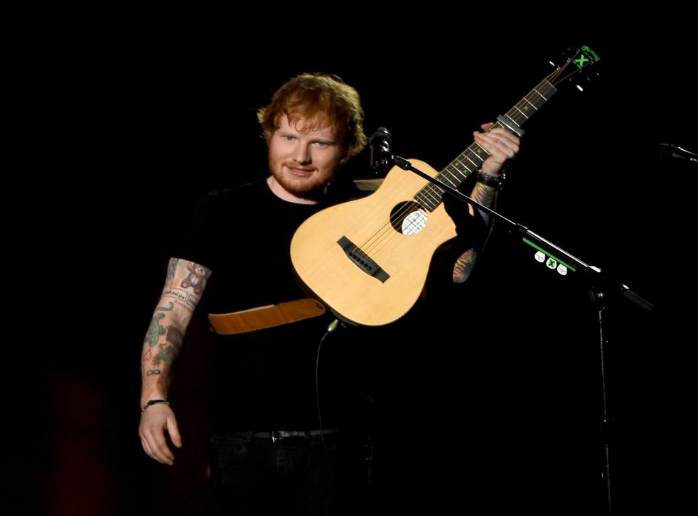The source says Sheeran was taken to a nearby hospital to have stitches before returning to the party