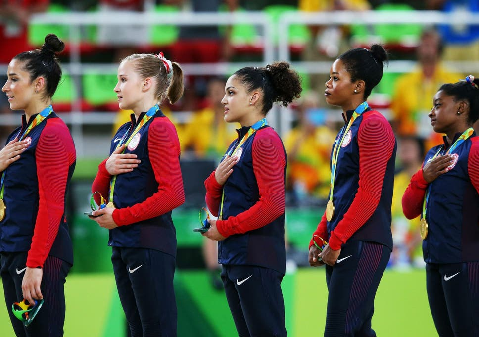 Rio 2016: Gabby Douglas criticised for not putting hand on heart