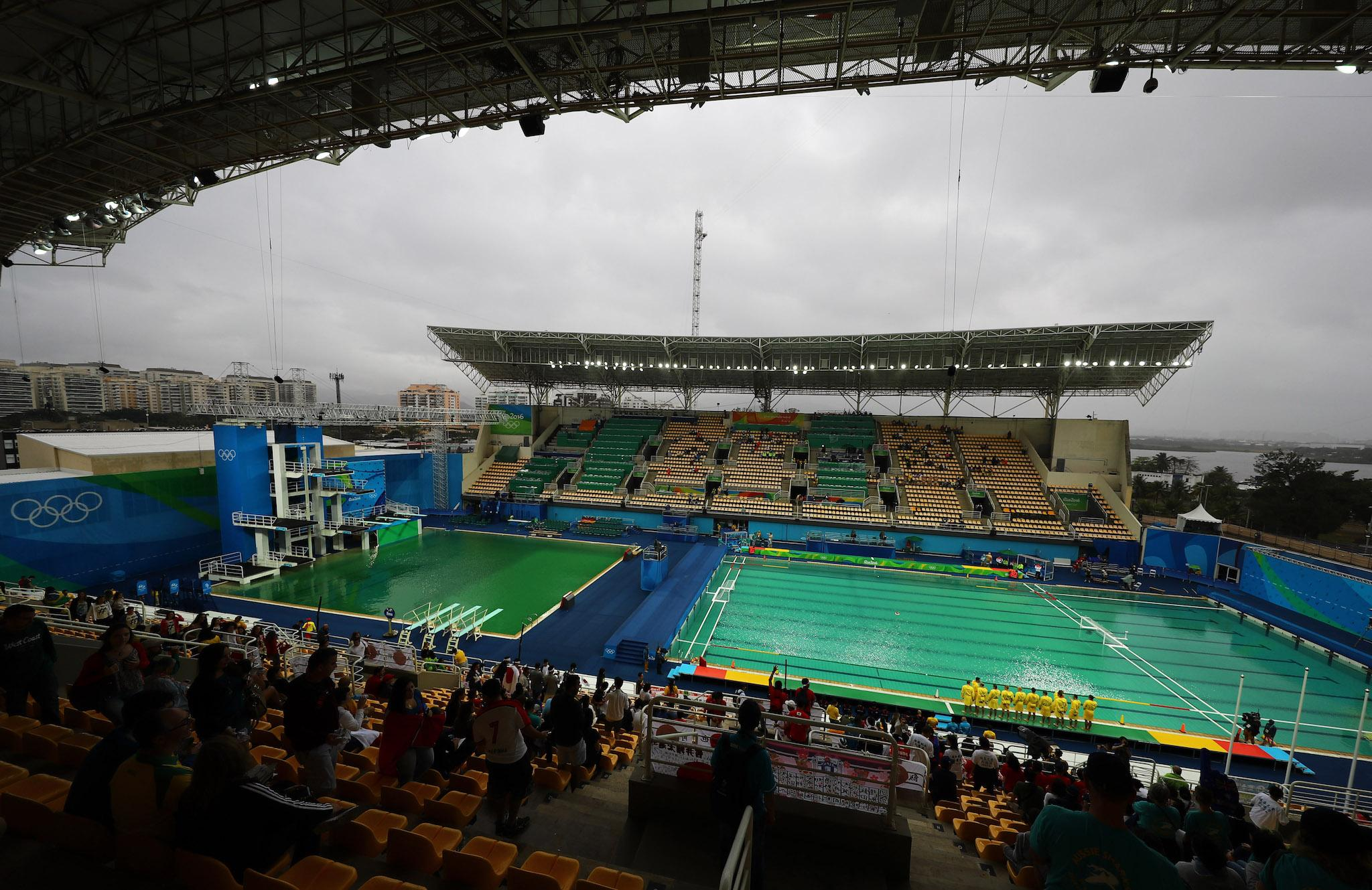 Rio 2016: The Olympic diving pool is still green despite health warnings, and may never be fixed