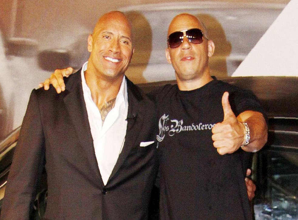 Vin Diesel and The Rock
