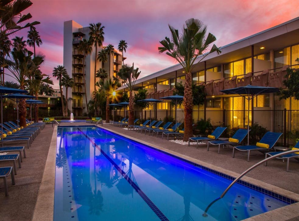 Robert Wagner and Natalie Wood were married at Hotel Valley Ho, and numerous stars have splashed about in its Oasis pool