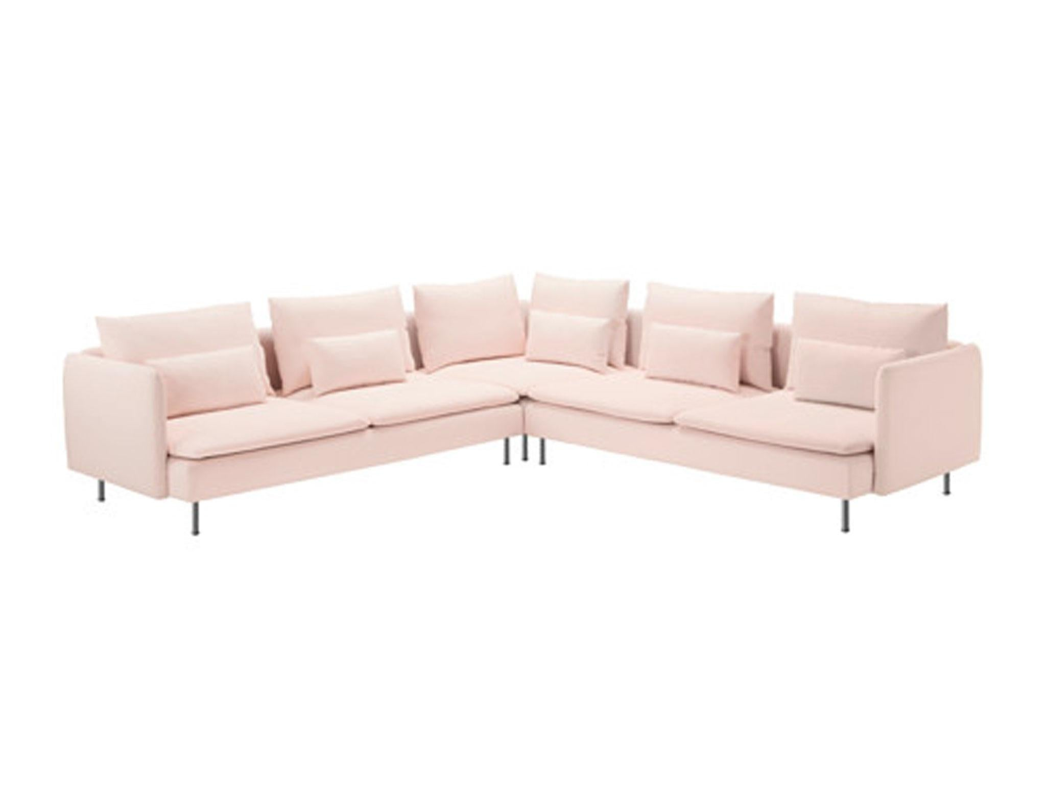 Another sofa solution thats made up in sections this practical design from ikea is kept affordable with microfibre upholstery that comes in a choice of