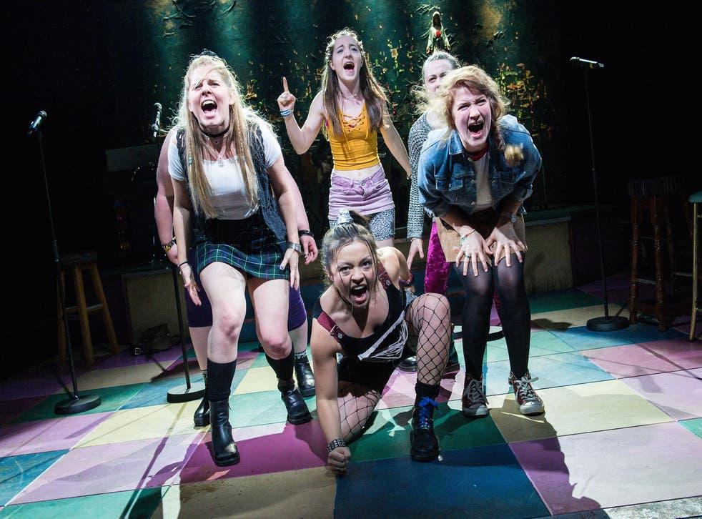From left: Dawn Sievewright, Mayli McCann, Kirsty MacLaren, Melissa Allan and Karen Fishwick fire up this vivid production