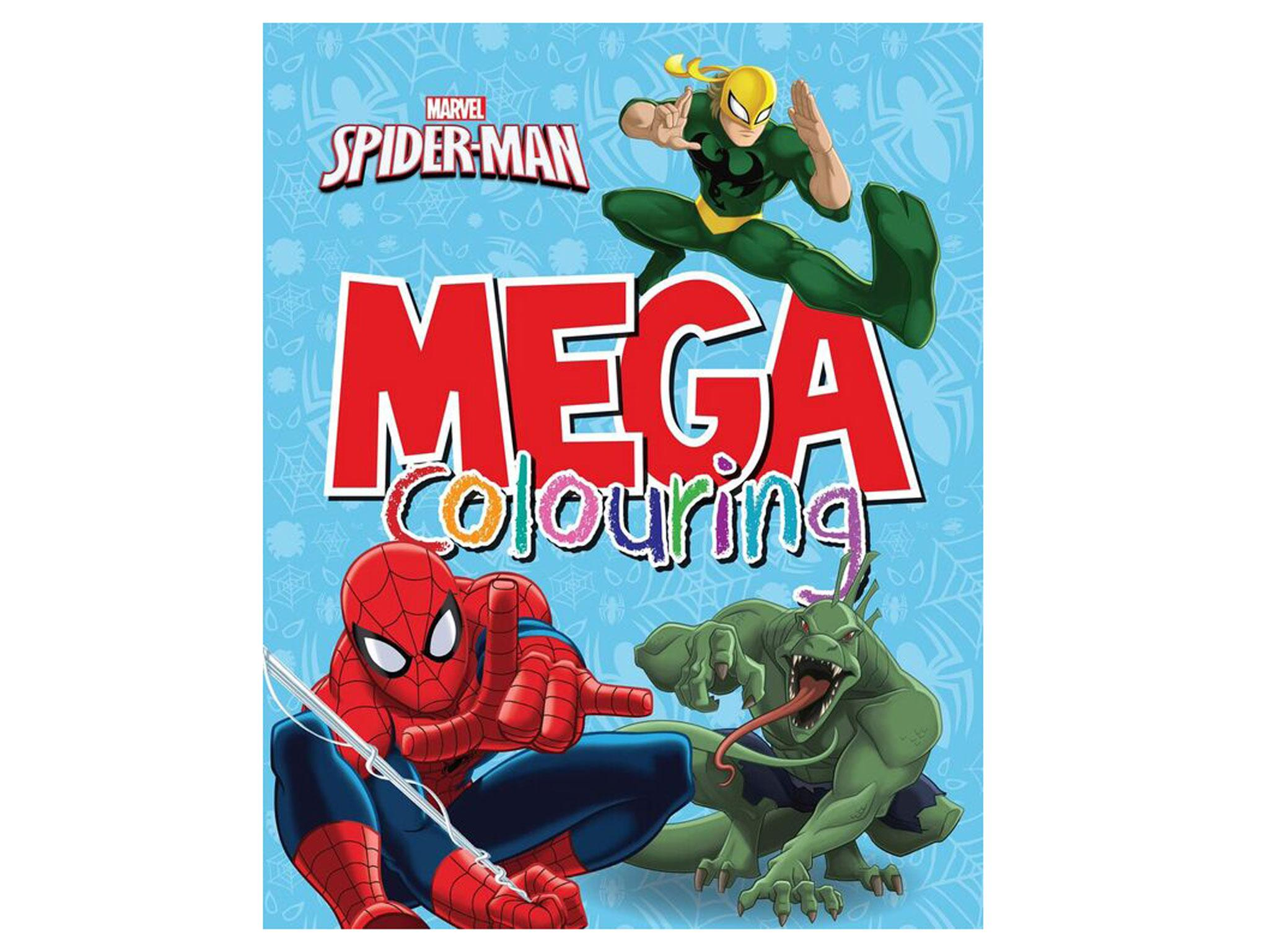 If Cute Animals And Pretty Patterns Dont Float Your Childs Boat Then These 90 Pages Of Marvel Superheroes Villains Focusing On Spider Man With