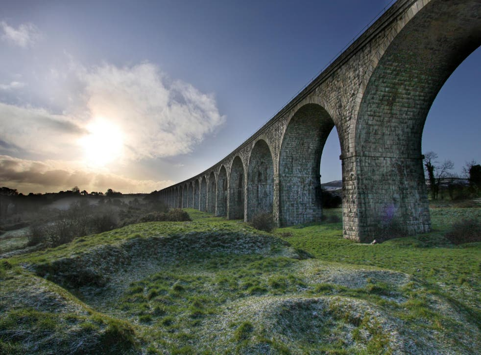 The Craigmore Viaduct was designed by the self-taught engineer William Dargan