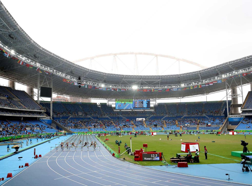 Many empty seats were seen on the first morning at the Joao Havelange Stadium