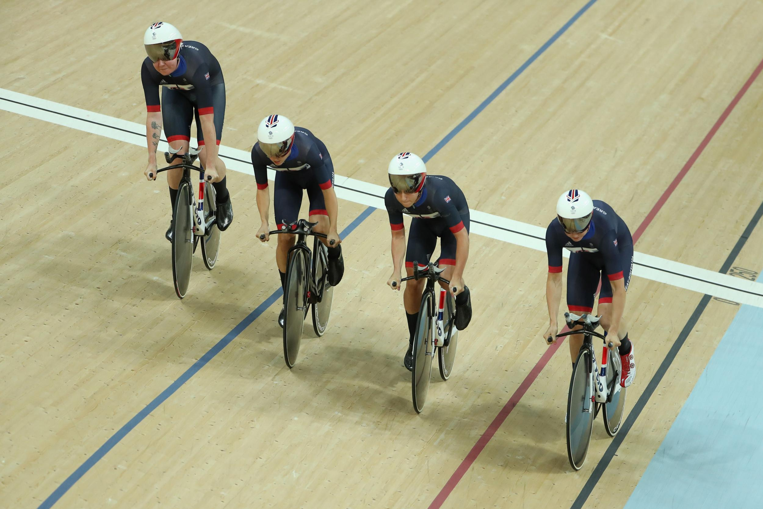 Rio 2016 live: More cycling success as the women's team pursuit take gold while Becky James surges to silver