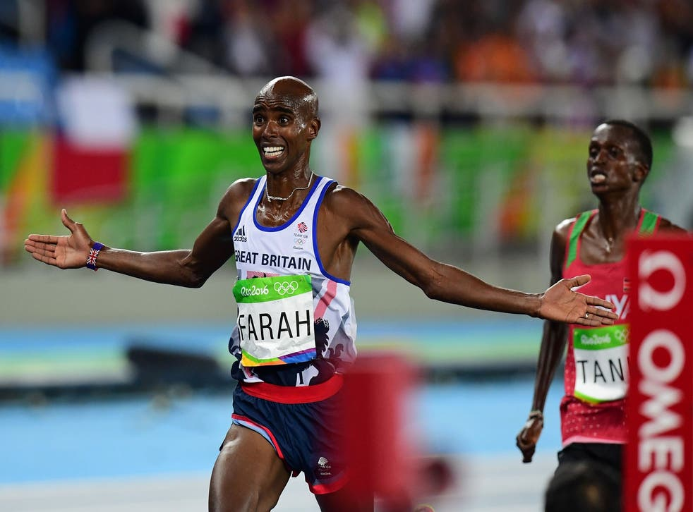 The Briton was asked about his links to coach Jama Aden after retaining his 10,000m title