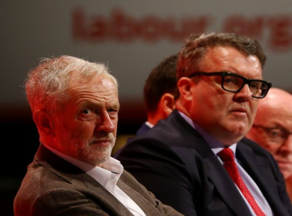 Jeremy Corbyn and Tom Watson at the Labour autumn conference in 2015