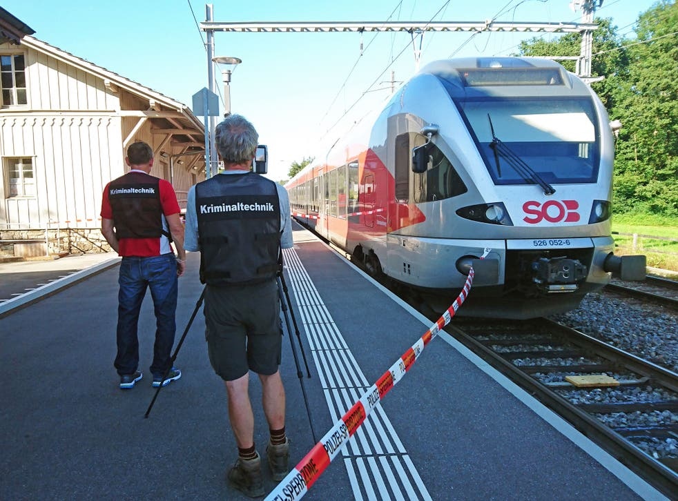 A 34-year-old has died after she was attacked in the carriage when the train pulled into Salez station in eastern Switzerland