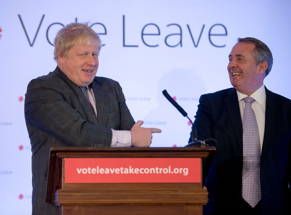 Boris Johnson and Liam Fox have been battling over Foreign Office responsibilities