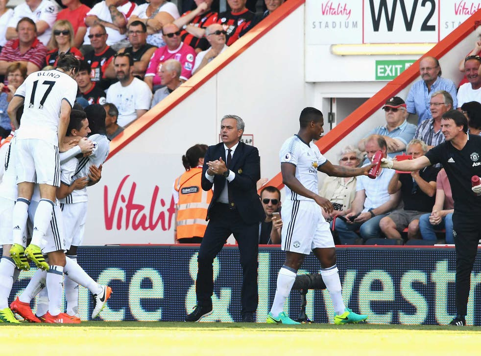 Jose Mourinho on the side-lines during Manchester United's opening weekend victory