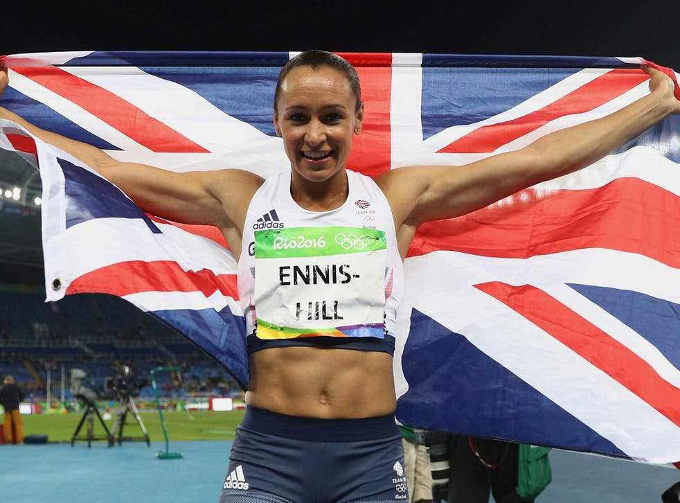 Jess Ennis-Hill shows her colours after winning silver in Rio