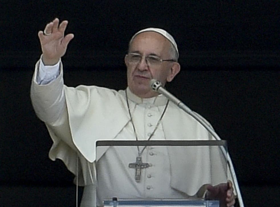 Pope Francis blamed man's 'irresponsible and selfish behaviour' for the 'destruction of our ecosystems'