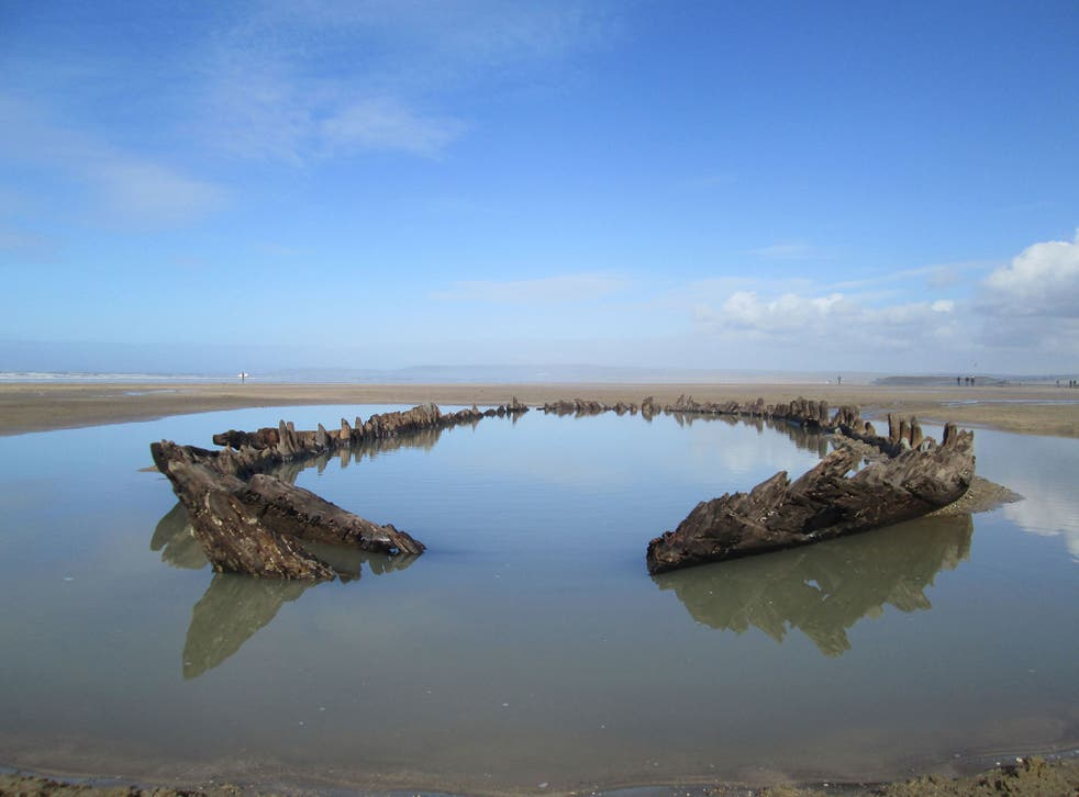 The Westward Ho! Wreck on Northam Burrows Sands in North Devon is one of the sites that has been given special status