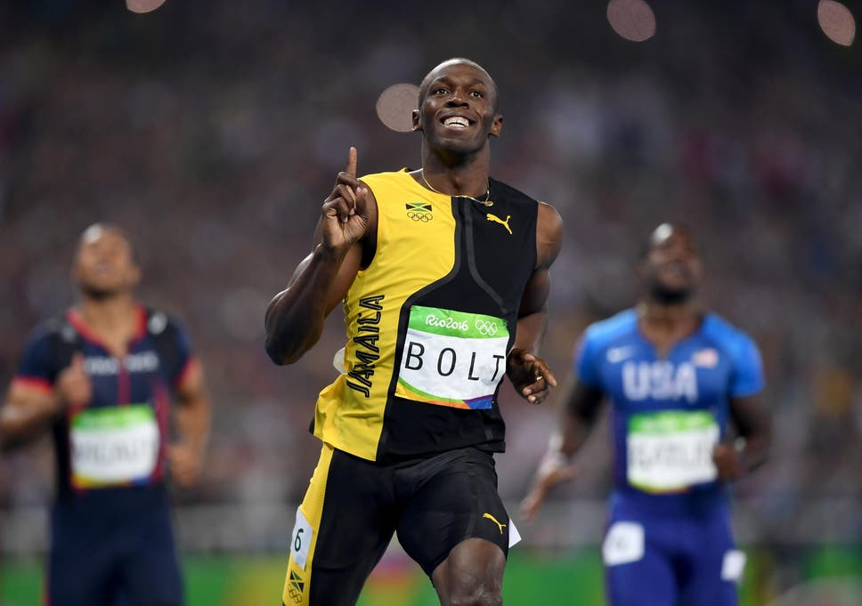 Usain Bolt Of Jamaica Wins The Mens 100m Final On Day 9 Rio 2016