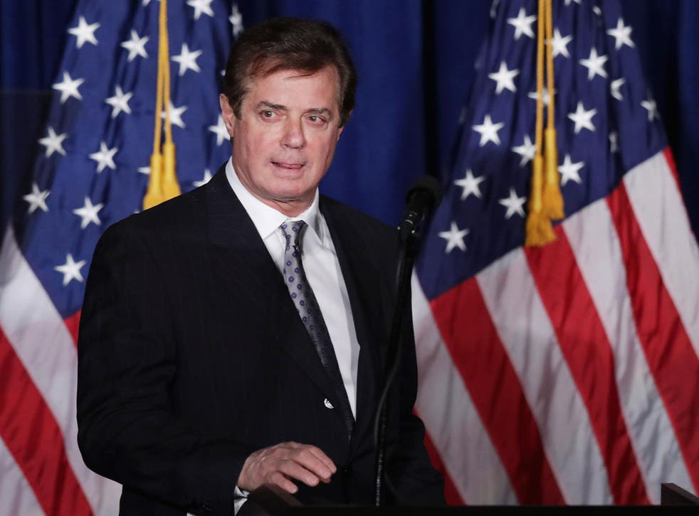 Paul Manafort has insisted he never represented Russian political interests
