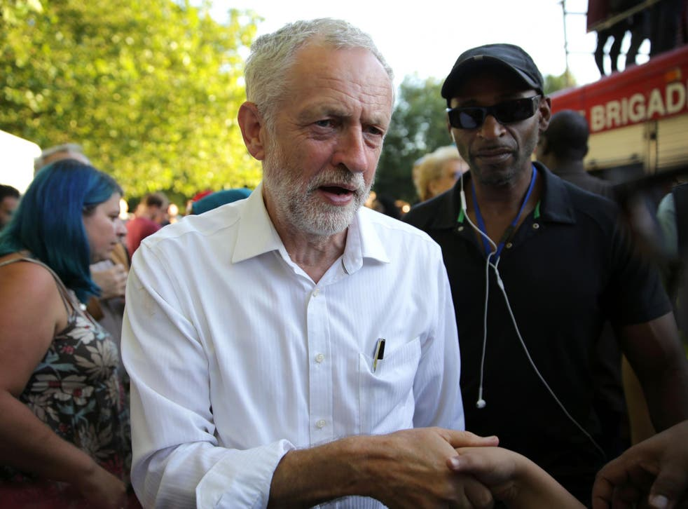 Jeremy Corbyn arrives to attend a Black, Asian and minority ethnic (BAME) rally in north London