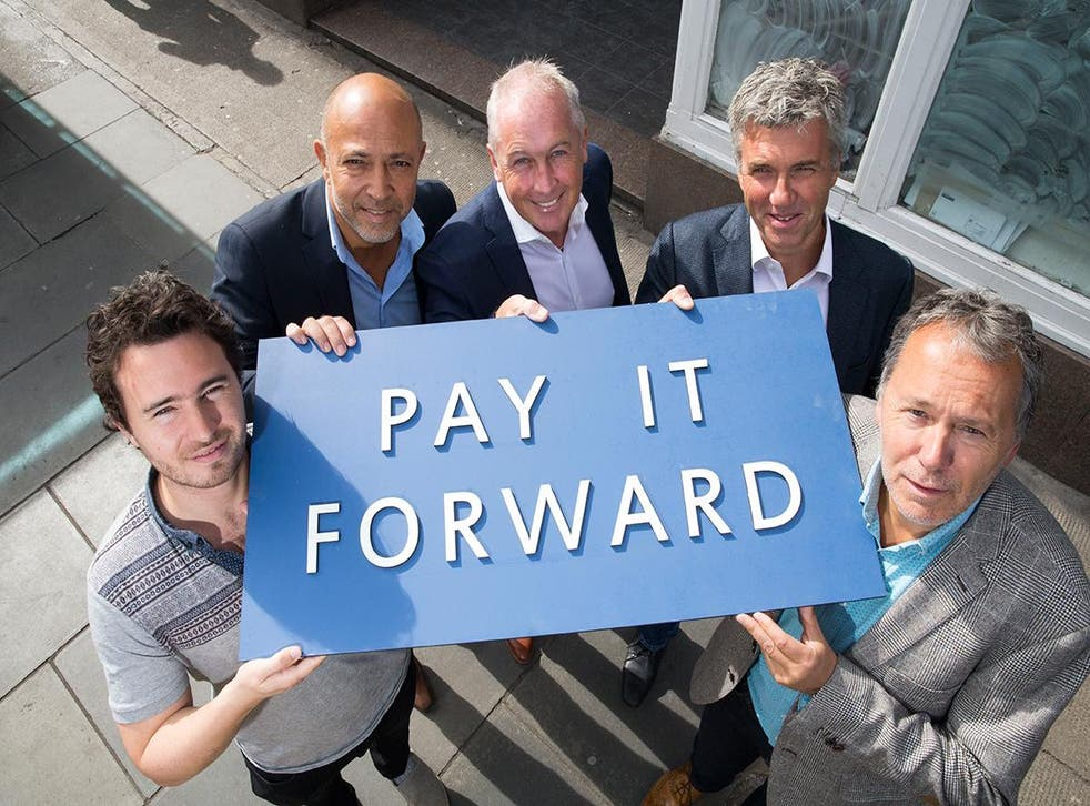The team behind Home: from left to right - Josh Littlejohn, Dean Gassabi, David Wither, Martin Wishart, Simon Littlejohn