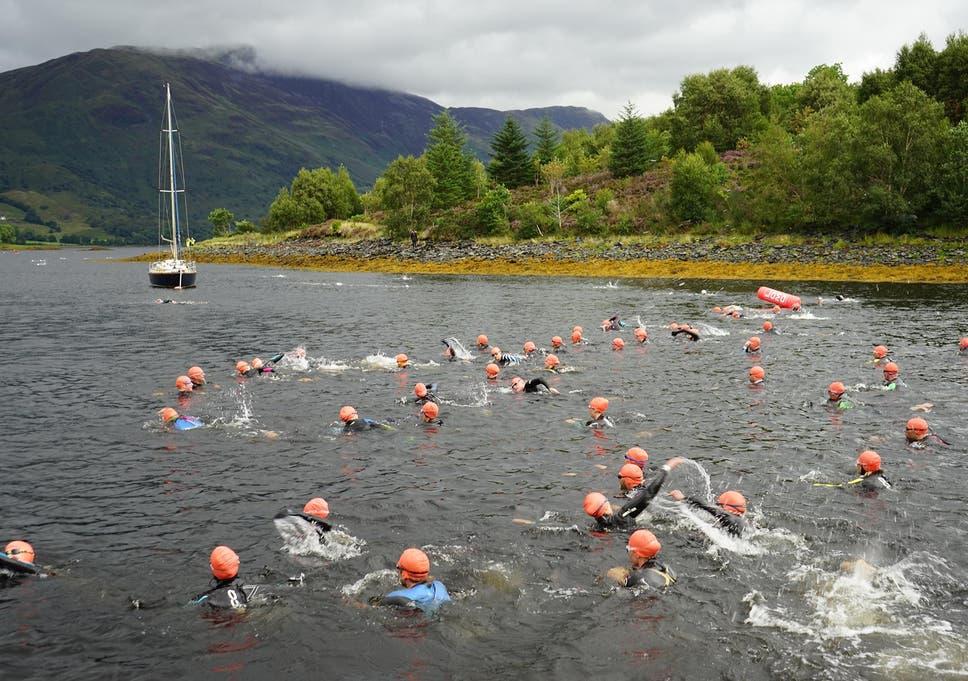 f1d5530b9b Open water swimming  Loch Leven sure beats Rio