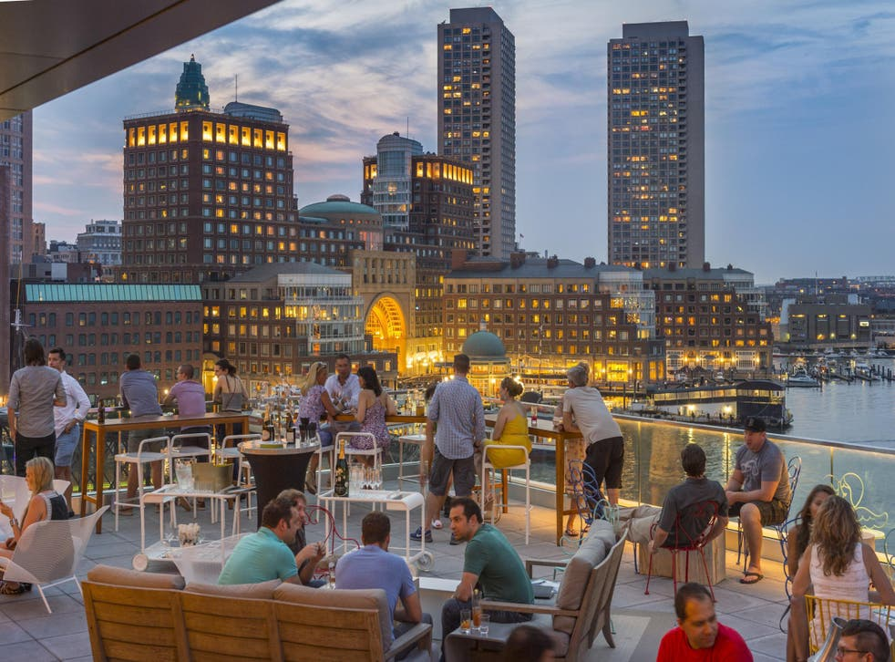 The hotel's rooftop Lookout bar