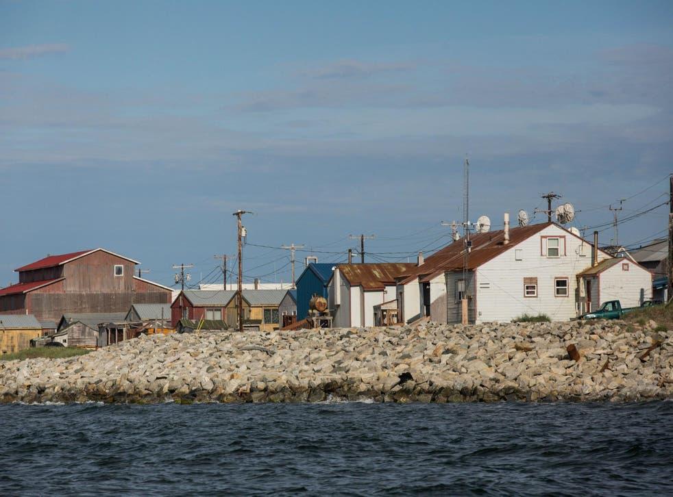 The community of Shishmaref has seen its shoreline gradually being eaten away