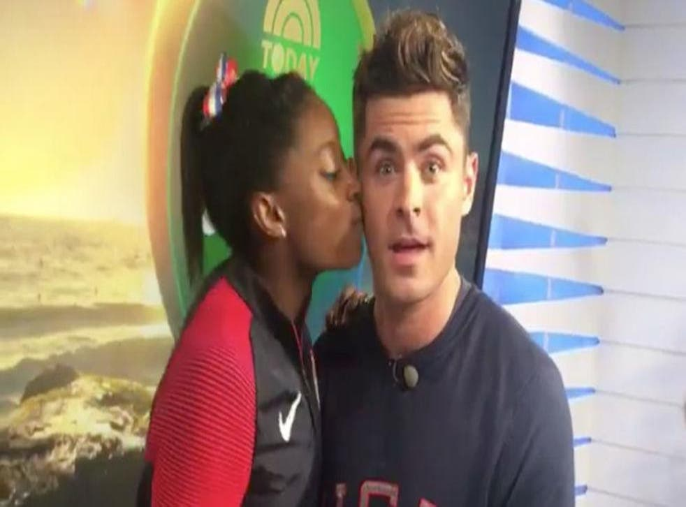 Efron says a number of people began informing him she was a massive fan so he began taking a keener interest in gymnastics