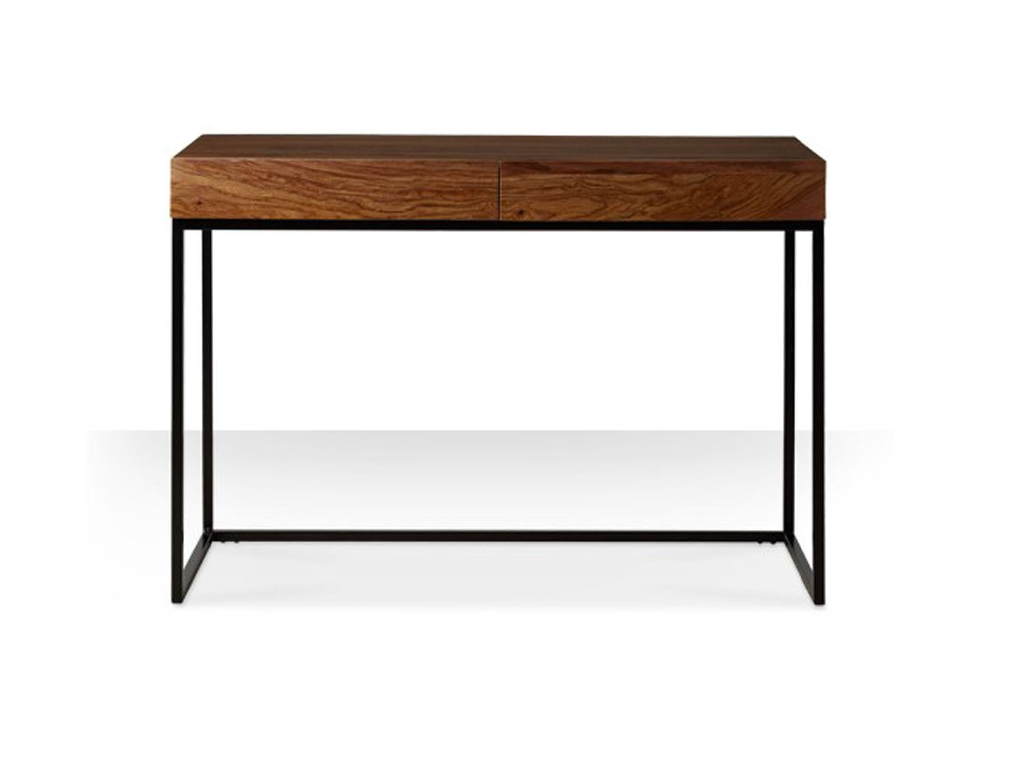 home office desk worktops. Made In India, The Brody Desk Combines A Luxurious Rosewood Top With Black Powder-coated Iron Frame. Its Simple Rectangular Style Lets Materials Do Home Office Worktops