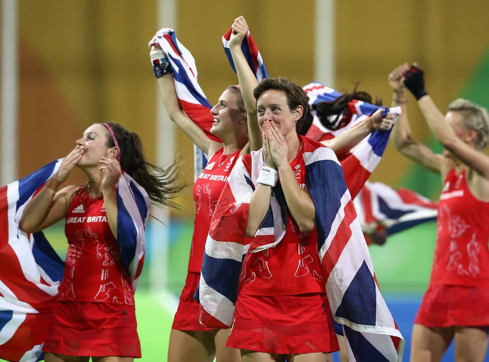 Hannah McLeod can barely contain her emotion after Britain's historic win