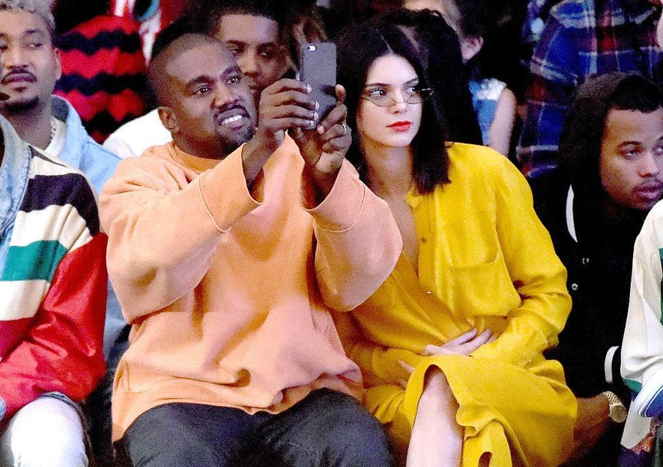 e5d0adb5604f Kanye West and Kendall Jenner attend Tyler the Creator s fashion show for  Made LA at L.A.