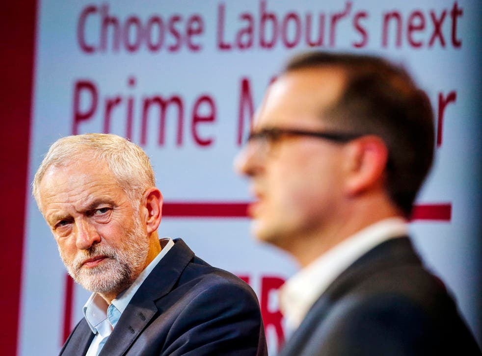Jeremy Corbyn and Owen Smith (right) Friday August 12, 2016