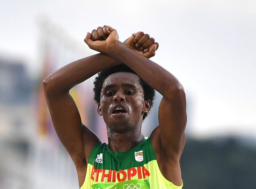 Merera had attended a hearing in Brussels with the exiled marathon runner Feyisa Lilesa