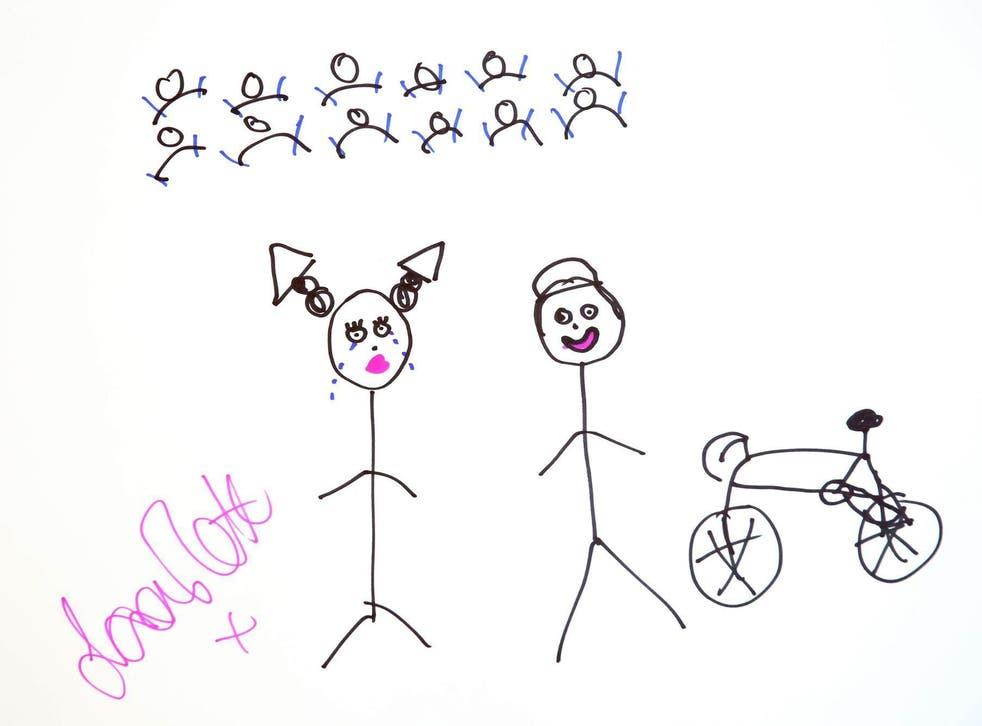 Britain's most successful female Olympian Laura Trott's sketch
