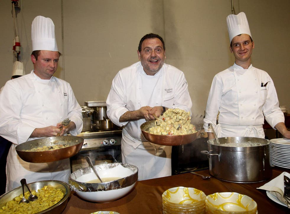 Popular TV chef and restaurateur Gianfranco Vissani