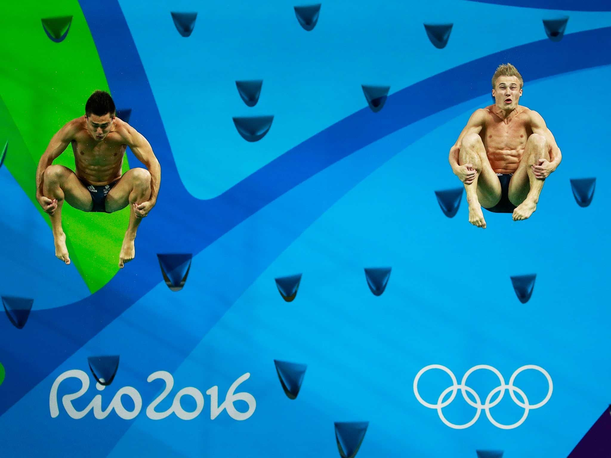 Chris Mears and Jack Laugher make a synchronised splash